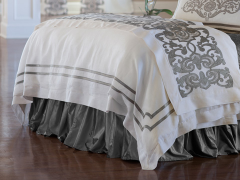 Image of Soho White Linen Duvet Cover