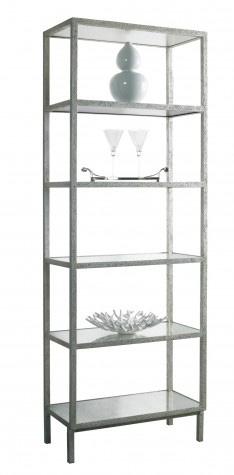 Lillian August Fine Furniture - Pickford Silver Slim Bookcase - LA96352-01