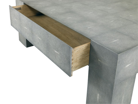 Image of Charcoal Shagreen Gavin Cocktail Table