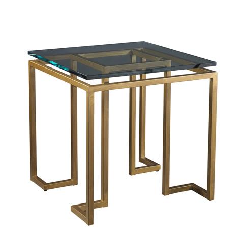 Lillian August Fine Furniture - Reid Side Table with Glass Top - LA14319