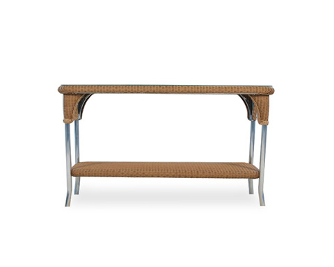 Lloyd Flanders - Console Table with Lay On Glass - 86249