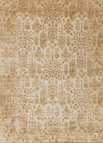 Image of Antique Ivory and Gold Rug