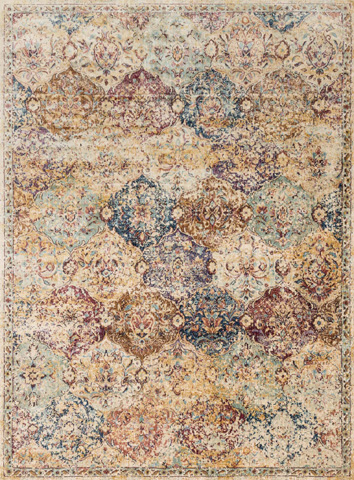 Image of Ivory and Multi Rug