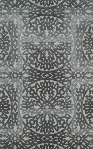 Image of Grey and Pewter Rug