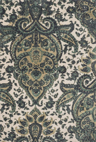 Image of Teal and Multi Rug