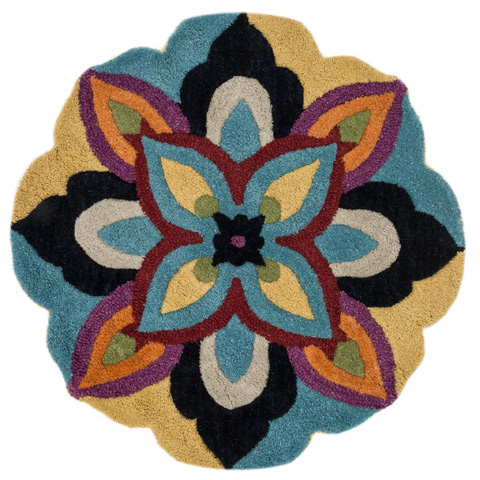 Image of Blue and Multi Rug