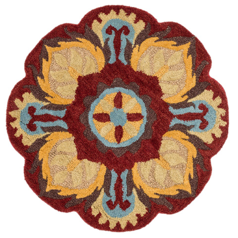 Loloi Rugs - Red and Gold Rug - AZ-06 RED / GOLD
