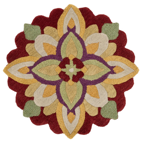 Image of Red and Yellow Rug