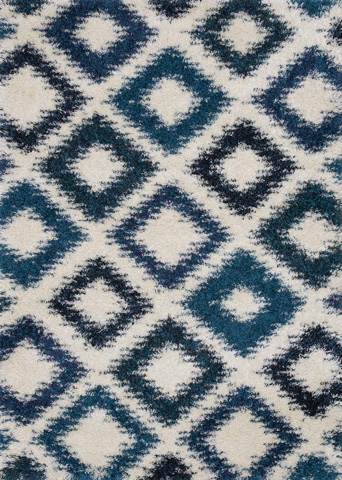 Image of Ivory and Sapphire Rug