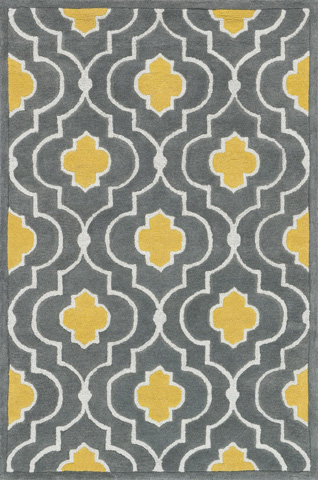 Image of Grey and Gold Rug