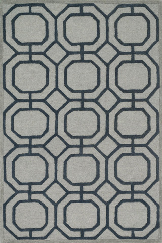 Image of Grey and Charcoal Rug