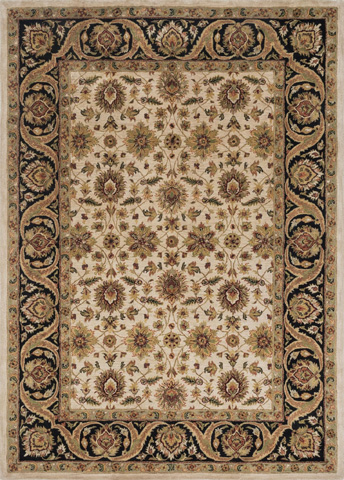 Image of Ivory and Black Rug