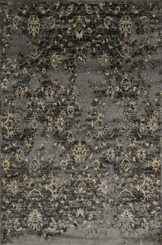 Image of Pewter and Beige Rug
