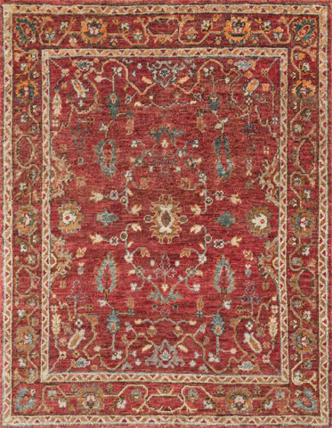 Image of Red and Red Rug
