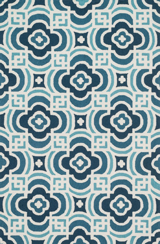 Image of Blue and Turquoise Rug