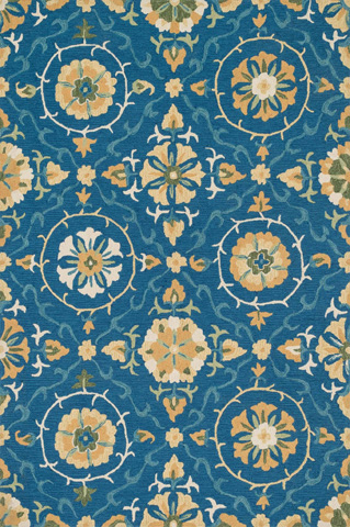 Loloi Rugs - Blue and Gold Rug - FC-51 BLUE / GOLD