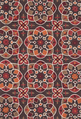 Loloi Rugs - Brown and Spice Rug - FC-55 BROWN / SPICE