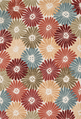 Image of Floral and Multi Rug