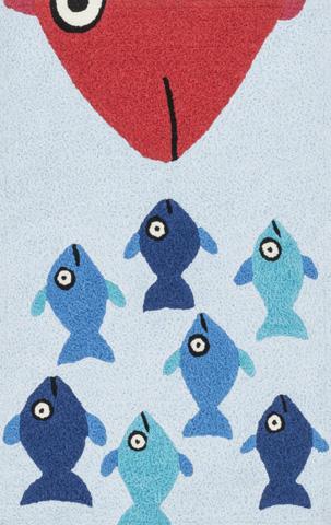 Image of Blue and Orange Rug