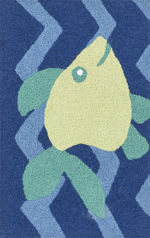 Image of Blue and Yellow Rug