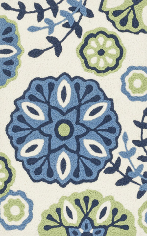 Image of Blue and Green Rug