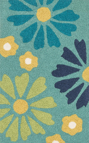 Image of Green and Blue Rug