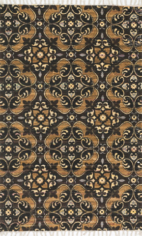 Image of Brown and Gold Rug