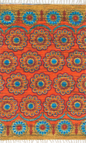 Image of Orange and Multi Rug