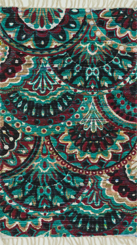 Image of Aqua and Multi Rug
