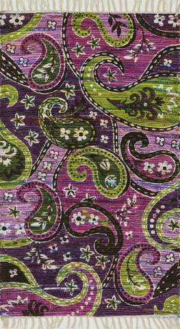 Image of Purple and Multi Rug