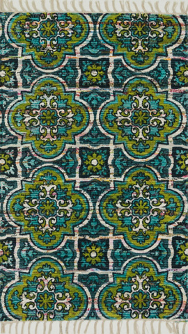 Image of Blue and Lime Rug