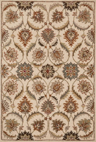 Loloi Rugs - Ivory and Multi Rug - HAS01 IVORY / MULTI