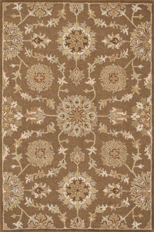 Image of Light Brown and Multi Rug