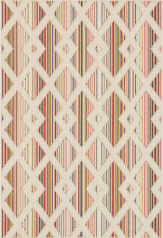 Loloi Rugs - Ivory and Multi Rug - HCA03 IVORY / MULTI