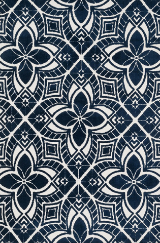 Image of Ivory and Navy Rug