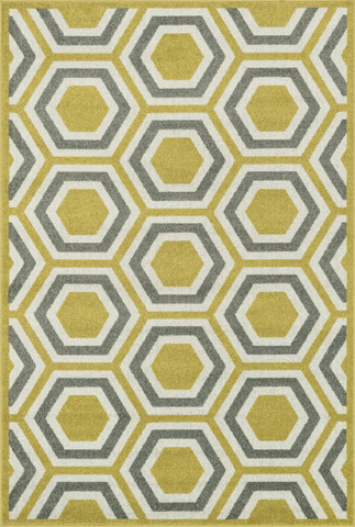 Image of Citron and Grey Rug