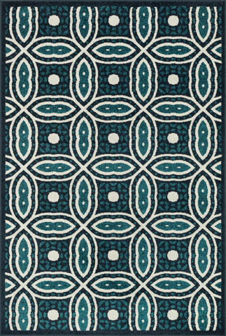 Image of Navy and Peacock Rug