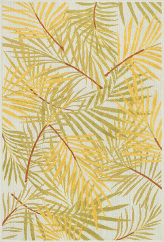 Loloi Rugs - Ivory and Lime Rug - HCF05 IVORY / LIME