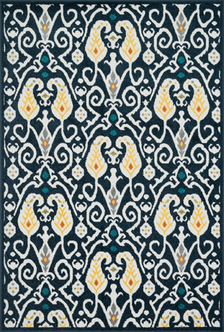 Image of Navy and Multi Rug