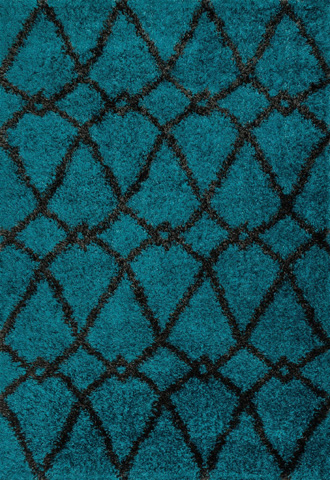 Image of Blue and Charcoal Rug