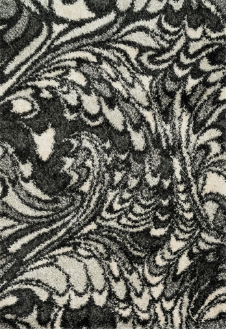 Image of Charcoal and Ivory Rug