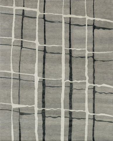 Image of Silver and Black Rug