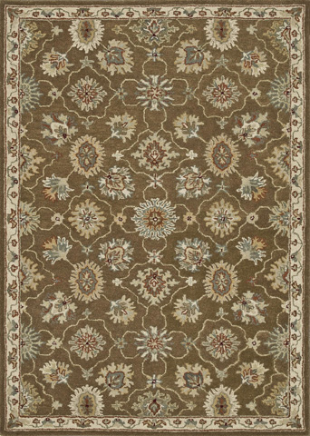 Loloi Rugs - Brown and Ivory Rug - HFF01 BROWN / IVORY