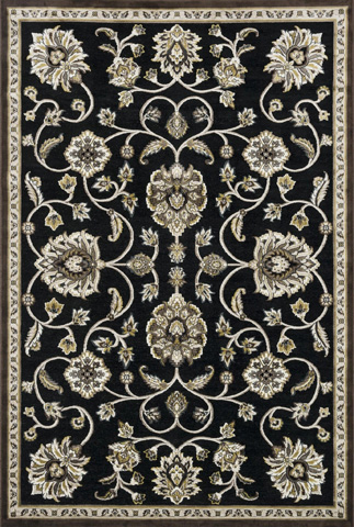 Image of Black and Gold Rug