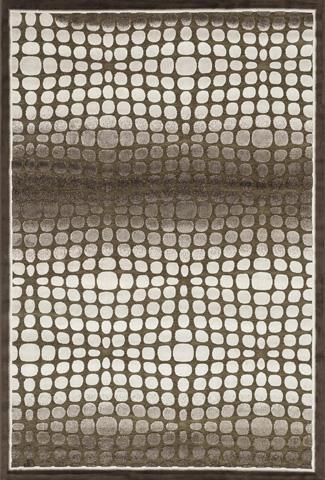 Image of Dark Brown and Beige Rug