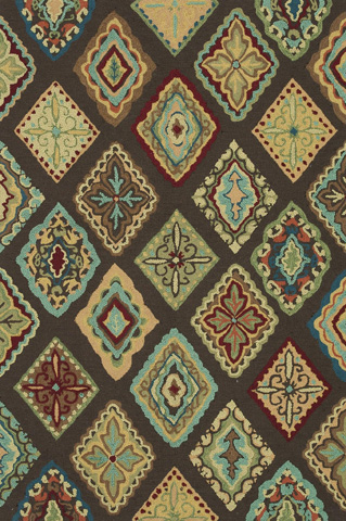 Loloi Rugs - Brown and Multi Rug - HOL02 BROWN / MULTI