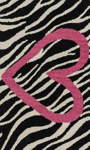 Image of Ivory and Pink Rug