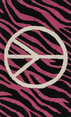 Image of Pink and Ivory Rug