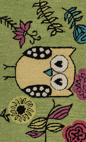 Image of Green and Yellow Rug