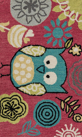 Image of Berry and Teal Rug